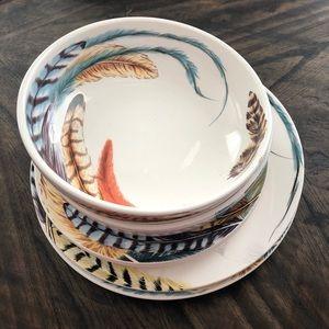 PIER 1  MELAMINE Fish 4 pc Appetizer PLATES